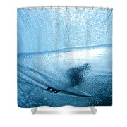 Blue Cocoon Shower Curtain