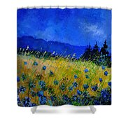 Blue Conflowers 454150 Shower Curtain