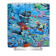 Blue Confusion Shower Curtain