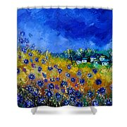 Blue Cornflowers 774180 Shower Curtain