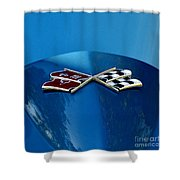 Blue Corvette Shower Curtain