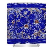 Blue Cosmos Abstract Shower Curtain