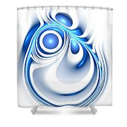 Blue Creation Shower Curtain