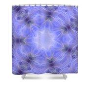 Blue Crystallized 1  Shower Curtain
