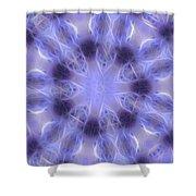 Blue Crystallized 2  Shower Curtain