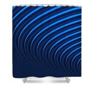 Blue Curves Shower Curtain