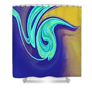Blue Dance By Jrr Shower Curtain