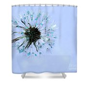Blue Dandelion Shower Curtain