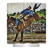 Blue Denim Rider Shower Curtain