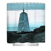 Blue Direction Shower Curtain