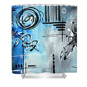 Blue Divinity By Madart Shower Curtain