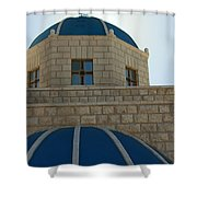 Blue Domes Shower Curtain