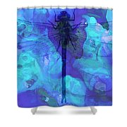 Blue Dragonfly By Sharon Cummings Shower Curtain by Sharon Cummings