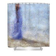 Blue Dream. Impressionism Shower Curtain by Jenny Rainbow