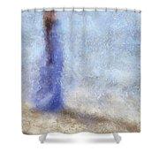 Blue Dream. Impressionism Shower Curtain