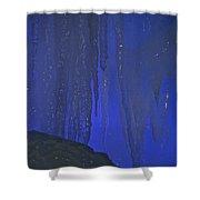 Blue Drip Shower Curtain