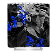 Blue Drippings Shower Curtain