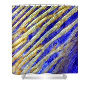 Blue Dunes Shower Curtain by Adam Romanowicz