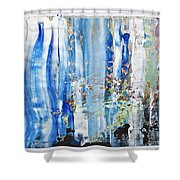 Blue Earth Abstract Shower Curtain