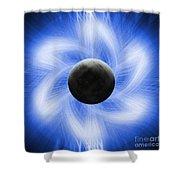 Blue Eclipse Shower Curtain