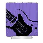 Blue Electric Guitar Shower Curtain