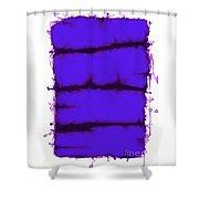 Blue Element Shower Curtain
