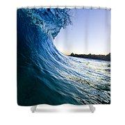 Blue Envelope  -  Part 1 Of 3 Shower Curtain