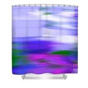 Blue Evening Mist Shower Curtain