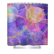 Blue Expectations - Square Version Shower Curtain