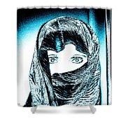Blue Eye Lady Shower Curtain