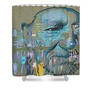 Blue Eyes Cryin' Shower Curtain