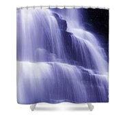 Blue Falls Shower Curtain