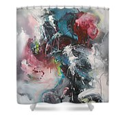 Blue Fever8 Shower Curtain