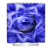 Blue Flame Background Shower Curtain