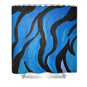 Blue Flames Of Healing Shower Curtain