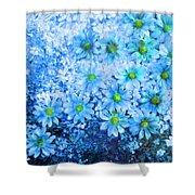 Blue Floral Fantasy Shower Curtain