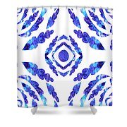 Blue Floral Pattern II Shower Curtain