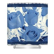 Blue For You Roses Shower Curtain