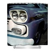 Blue Ford Pickup Shower Curtain