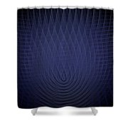 Blue Fractal Background Shower Curtain