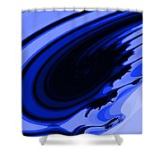 Blue Fractal Shower Curtain