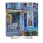 Blue Front Porch Photo Art 01 Shower Curtain