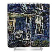 Blue Front Porch Photo Art 04 Shower Curtain