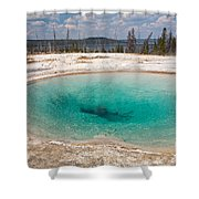 Blue Funnel Spring In West Thumb Geyser Basin Shower Curtain