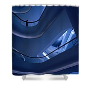 Blue Future Shower Curtain