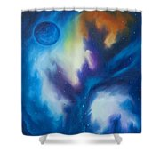 Blue Giant Shower Curtain