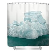 Blue Glacial Iceberg Floating Shower Curtain