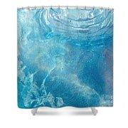 Blue Glacier Ice Shower Curtain