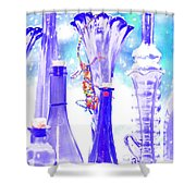 Blue Glass And Gecko Shower Curtain