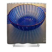 Blue Glass Bowl Shower Curtain